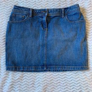 New York & Company Blue Denim Mini Skirt 10